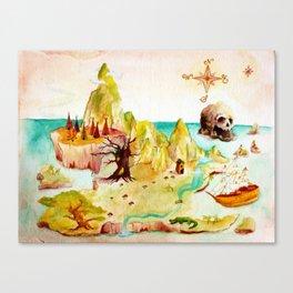 Peter Pan Map Canvas Print