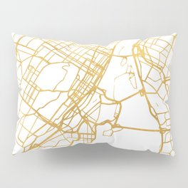 MONTREAL CANADA CITY STREET MAP ART Pillow Sham