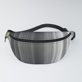 Black White Gray Thin Stripes Fanny Pack