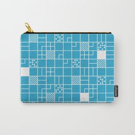 Inverted Boxes Blue Carry-All Pouch