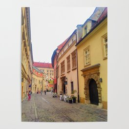 Kanonicza Street is one of the most beautiful streets in Krakow Poster