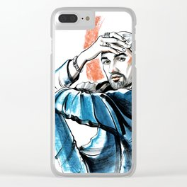 male portrait #1 Clear iPhone Case