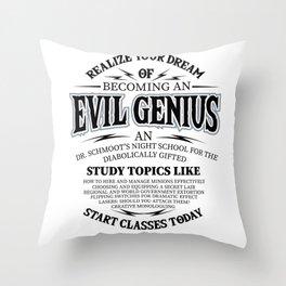 Evil genius supervillain world domination Gifts Throw Pillow