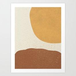 Minimalist Painting - Gold Brown Art Print