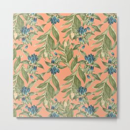 Blue Flowered Gentian Metal Print