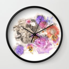 Lion Spirit Wall Clock