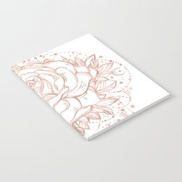 Mandala Lunar Rose Gold Notebook