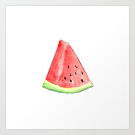 Watermelon Red Piece Art Print