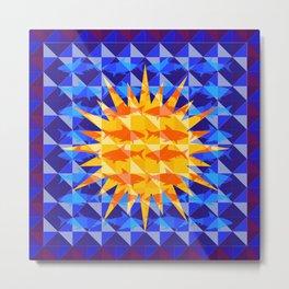 Sunsharks On Blue. Metal Print