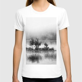 Watercolor Landscape on Water (Black and White) T-shirt