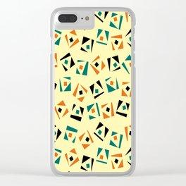 Random geometric pattern Clear iPhone Case