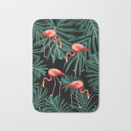 Summer Flamingo Jungle Night Vibes #2 #tropical #decor #art #society6 Bath Mat