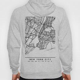 NEW YORK CITY NEW YORK BLACK CITY STREET MAP ART Hoody