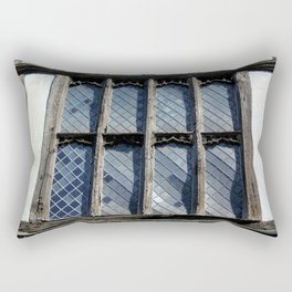 15th Century Medieval Window Rectangular Pillow