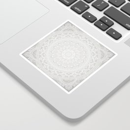 Mandala Soft Gray Sticker