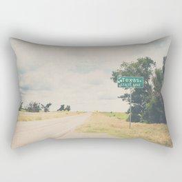 Texas state line ... Rectangular Pillow
