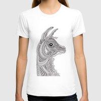 llama T-shirts featuring Llama by Olya Goloveshkina