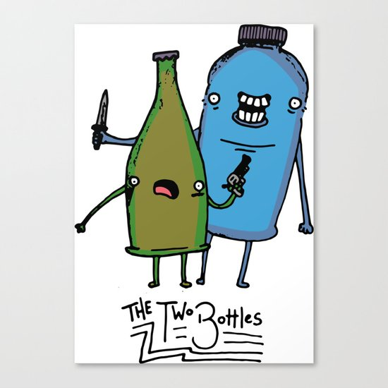 the two bottles Canvas Print