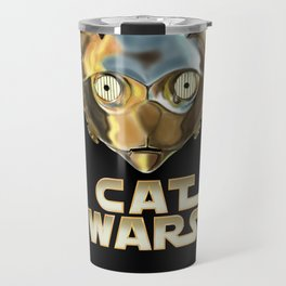 Cat Wars C3PO Travel Mug