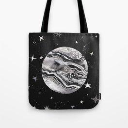 Magical Moon Black Tote Bag
