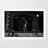 Walk tall and carry a big stick Art Print