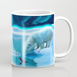 The Encounter - A Polar Bear & Penguin Fantasy Coffee Mug