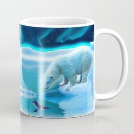 The Encounter - A Polar Bear & Penguin Fantasy Coffee Mug