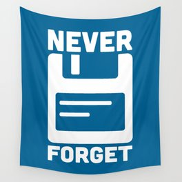 Never Forget Floppy Disk Wall Tapestry