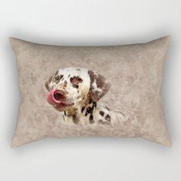 Watercolor Cute Dalmatian Rectangular Pillow