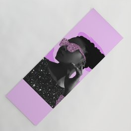 Rock Star Glitter Collage Yoga Mat