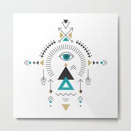 Colorful Tribal Geometric Totem Metal Print