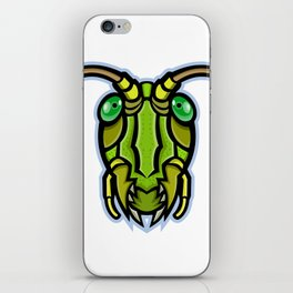 Grasshopper Head Mascot iPhone Skin