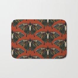 swallowtail butterfly terracotta Bath Mat