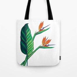 Watercolor Bird of Paradise Tote Bag