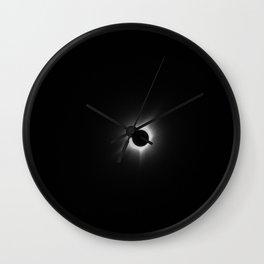 Solar Eclipse in Black & White Wall Clock