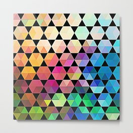 Electric Hex Metal Print