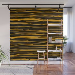 Golden Honey Drizzle Wall Mural