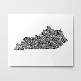 Typographic Kentucky Metal Print
