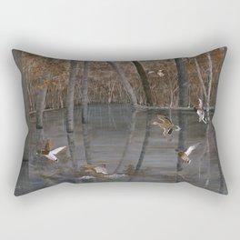 Winter Mallards Rectangular Pillow