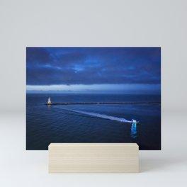 Coming into the Harbor at Dawn Mini Art Print
