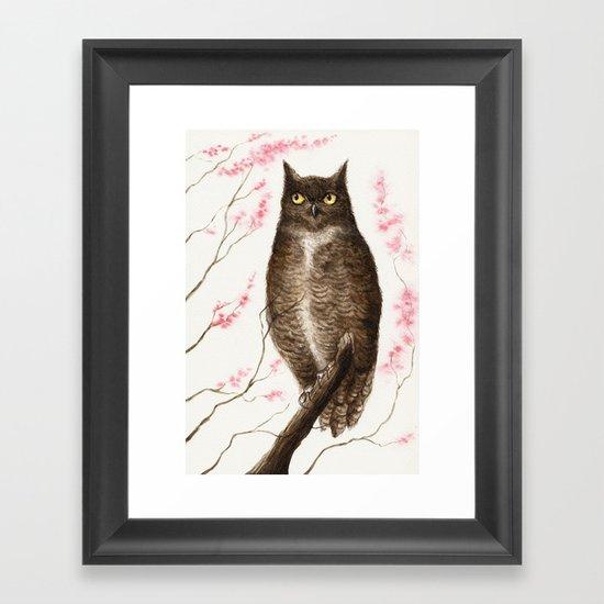 Spring Owl Framed Art Print