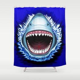 Shark Jaws Attack Shower Curtain