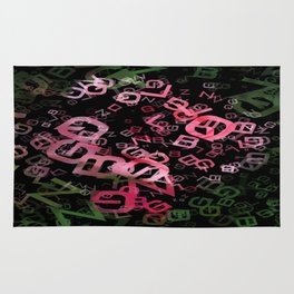 Pink Roses in Anzures 2 Letters 3 Rug
