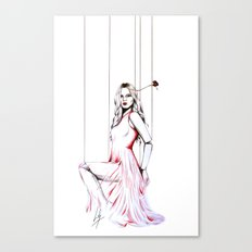 La Robe Rouge Canvas Print