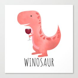 Winosaur Canvas Print