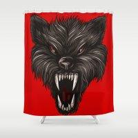werewolf Shower Curtains featuring werewolf horror by BURPdesigns