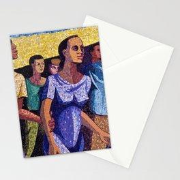 Classical African American Landscape 'Man Emerging' by Charles Alston Stationery Cards