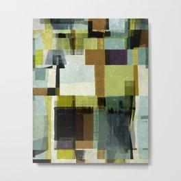 modern mid century, Geometric art, contemporary art, Scandinavian art, retro art, poster print, fami Metal Print