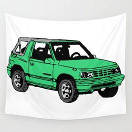 Retro 80s Truck / SUV Wall Tapestry