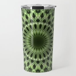 Bright green mandala Travel Mug